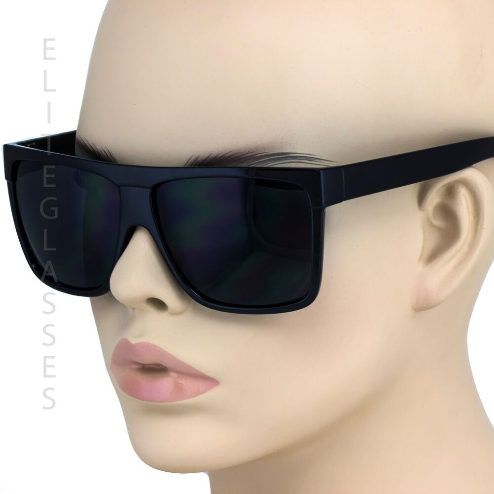 Oversized Aviator Sunglasses Flat Top Square Vintage Retro