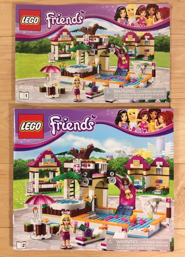 Lego Friends Heartlake City Pool Set 41008 2 Instruction Booklets