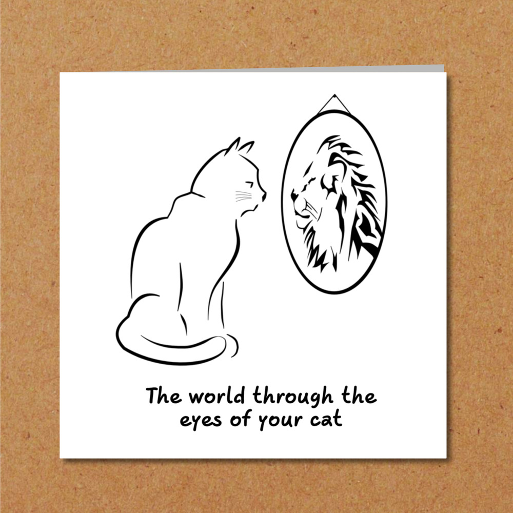 Details About Funny CAT Birthday Card Kitten Blank Cute Humorous Lover Greeting Lion Animal