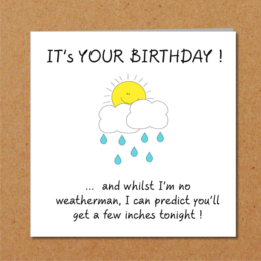 Details About Funny Birthday Card Girlfriend Wife Lover Rude Naughty Adult Humorous Weather