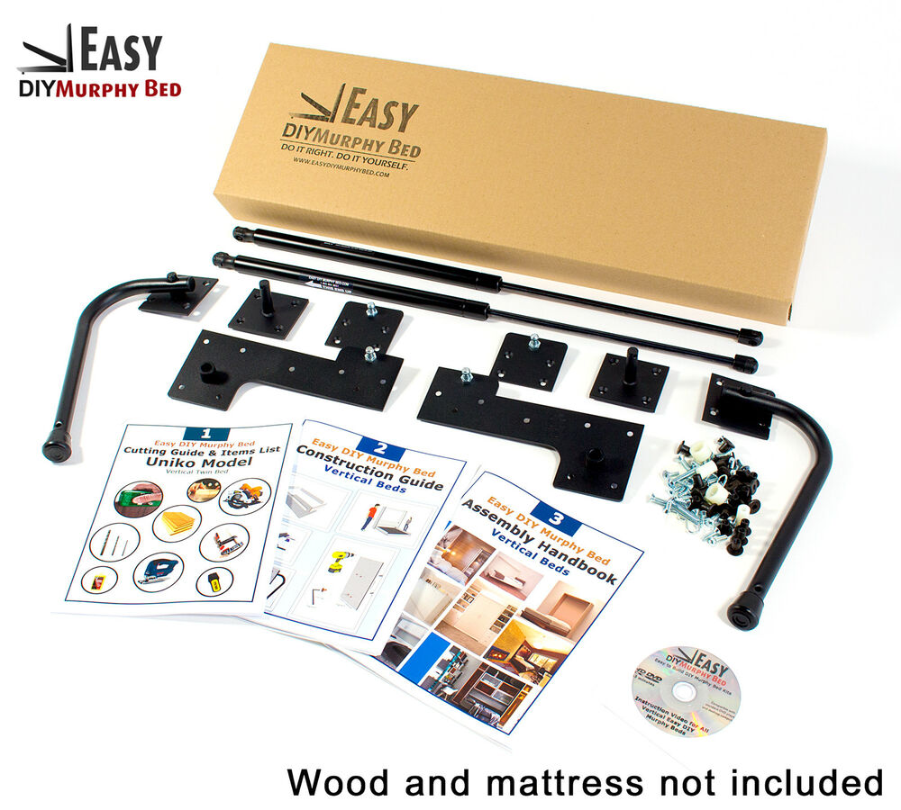 Do it yourself murphy bed hardware kit full size vertical wall do it yourself murphy bed hardware kit full size vertical wall mount ebay solutioingenieria Gallery