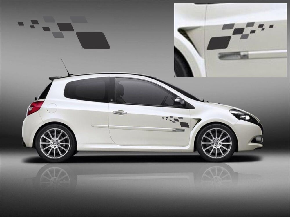 renault clio sport rs r27 megane f1 team x2 decal set stickers graphics 225 197 ebay. Black Bedroom Furniture Sets. Home Design Ideas
