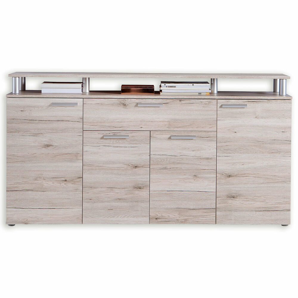 sideboard pablo sandeiche 169 3 cm breit ebay. Black Bedroom Furniture Sets. Home Design Ideas
