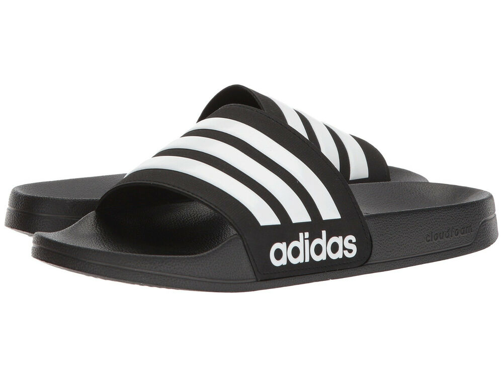 d56d05ef9ee1 Details about Men adidas NEO CF Adilette Slide Sandal AQ1701 Core  Black White Core Black NEW