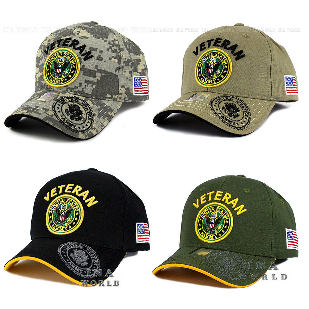 ced66908ab0 Details about U.S. ARMY hat VETERAN ARMY Embroidered Military Officially  Licensed Baseball cap