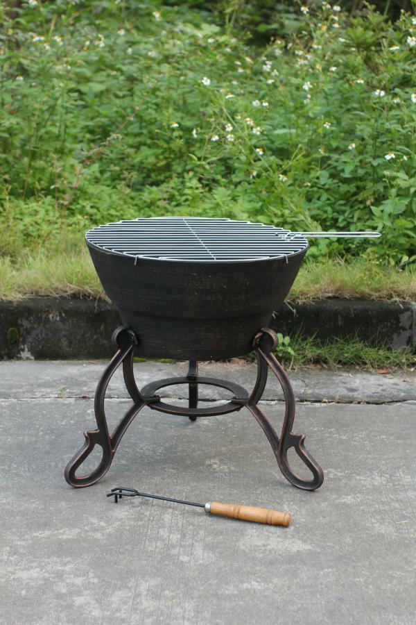Details About Cast Iron Fire Bowl Bbq Grill In One Patio Heater Pit Firepit