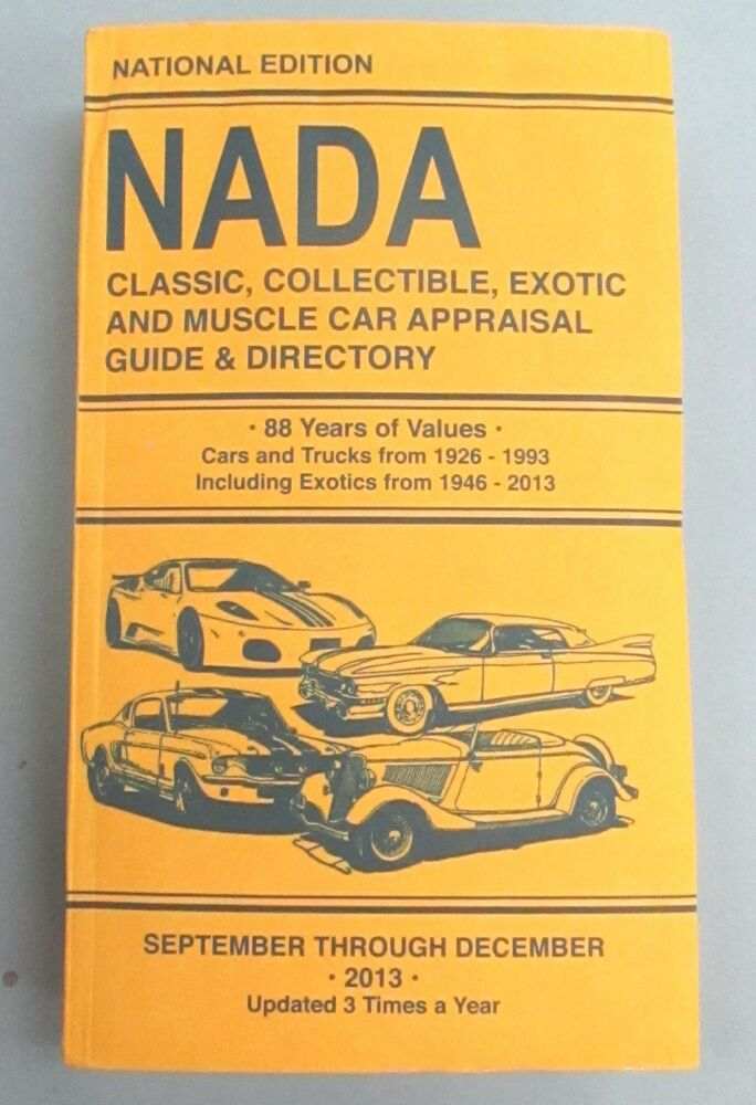 Nada Classic Cars >> Nada Classic Collectible Exotic Muscle Car Price Guide Car Truck