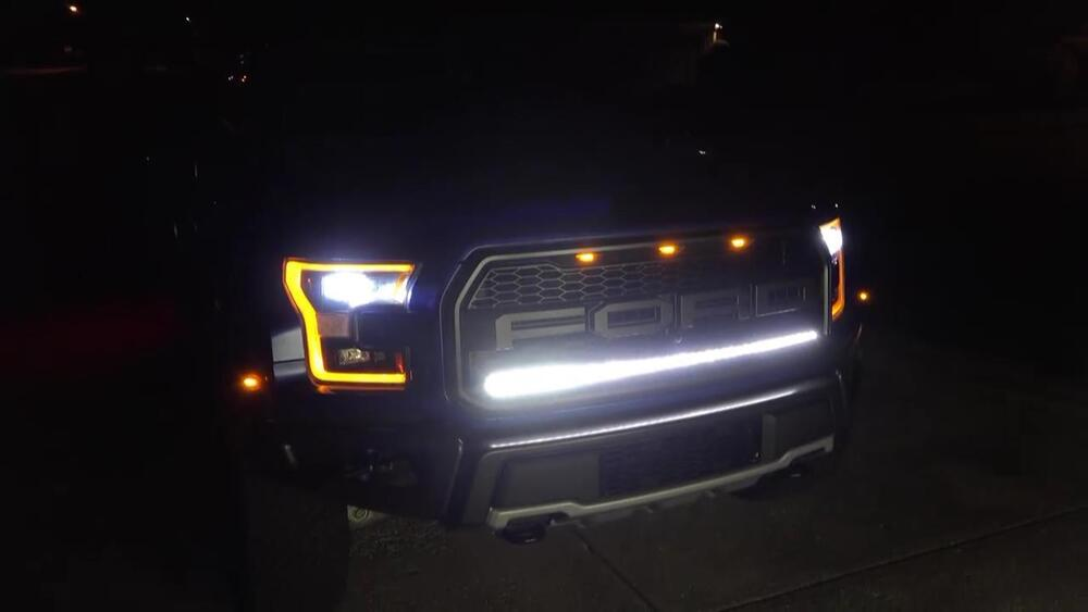 2017 2019 Ford F 150 Raptor Grill Light Bar Pat Pend Mount