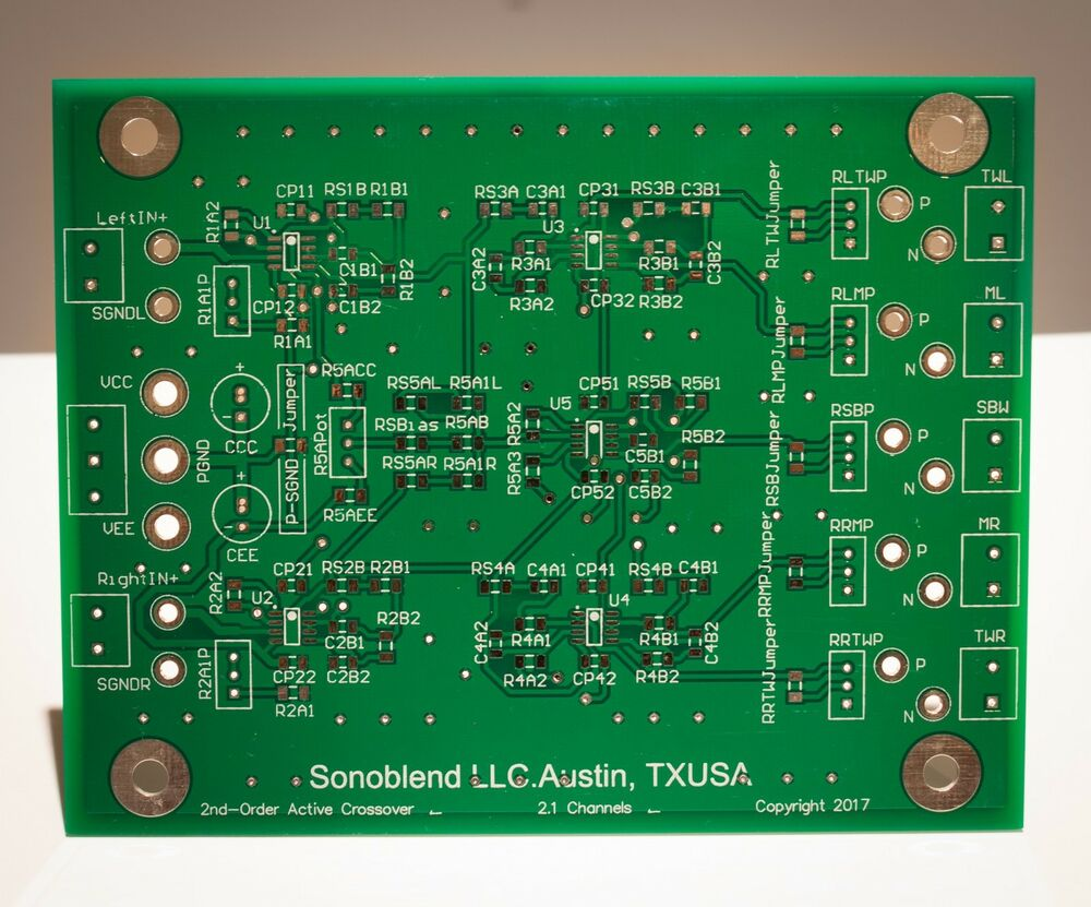 21 Channel Subwoofer 2nd Order Active Crossover Filter Pcb Board Addition Powered Wiring Diagram On 8 Pin From Usa Ebay
