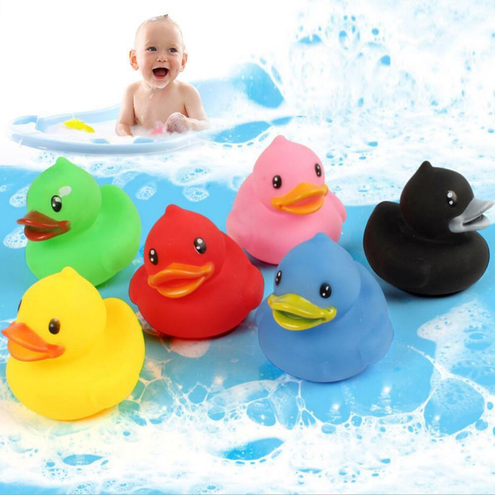 Baby Bath Squeeze Duck Toy Rubber Sound Yellow Float Toys