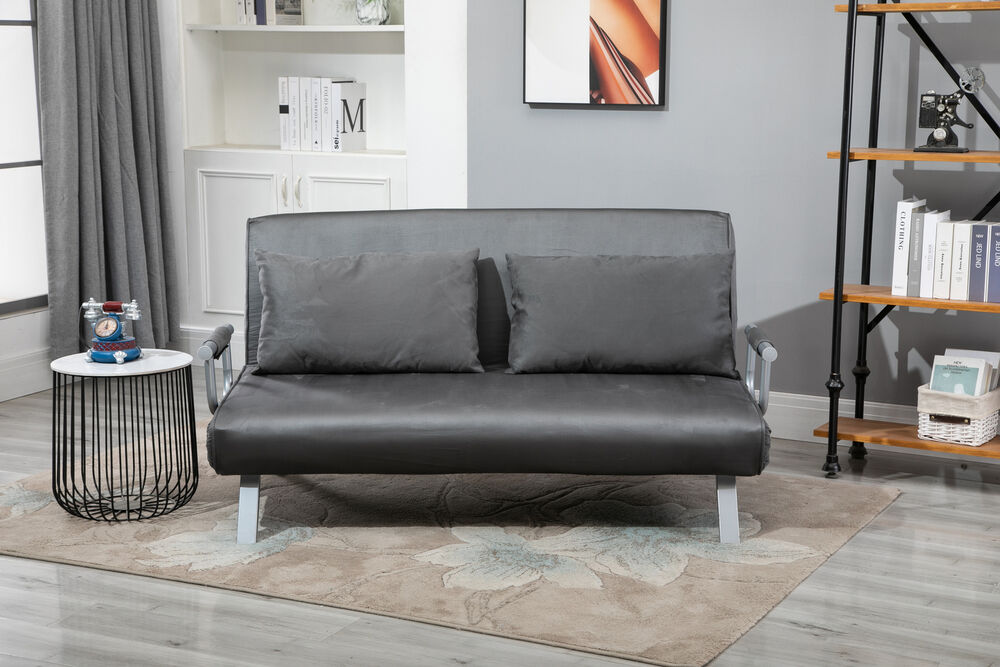 Convertible Double Sleeper Sofa Bed W 5 Backrest Position