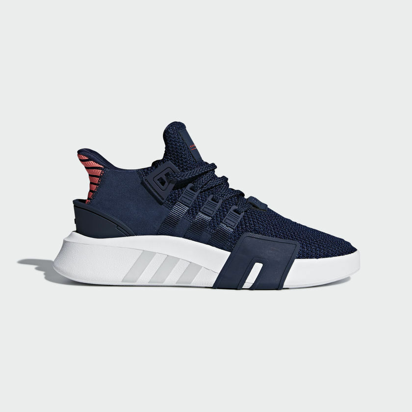 sports shoes c46a2 c2336 Details about ADIDAS ORIGINALS EQT BASKETBALL ADV CQ2996 Collegiate Navy  Blue Real Coral Red