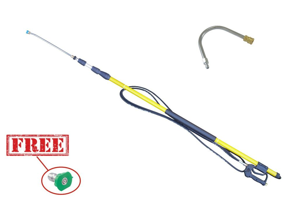 18ft Pressure Washing Telescopic Pole Extendable 14 8mm Q
