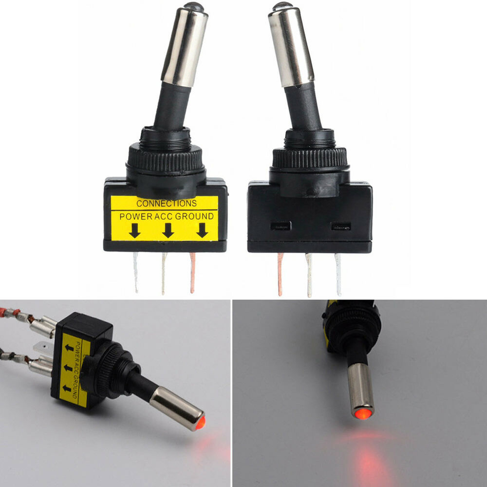 12 V 20A Auto Auto Rot LED Licht Toggle Wippschalter SPST ON / OFF ...