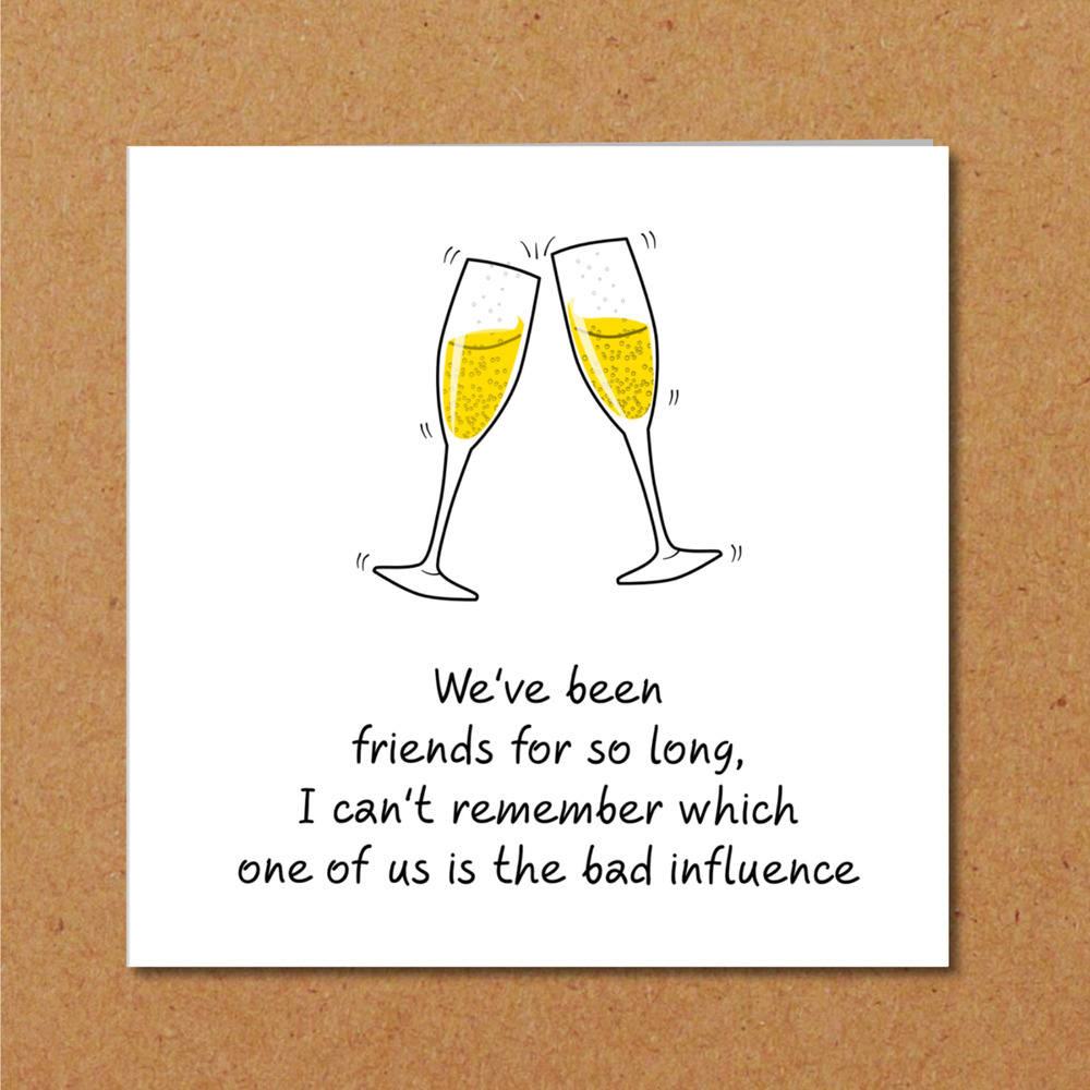 BFF Birthday Card Best Friend Bestie Girl Female Funny