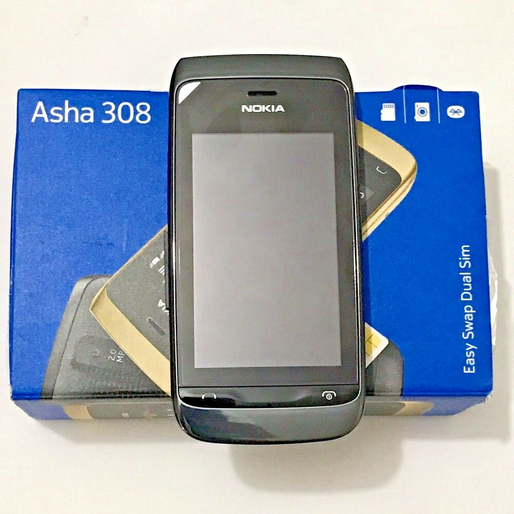 NEW Nokia Asha 308 sim free Unlocked Phone Support Dual 2 sim 11 language |  eBay