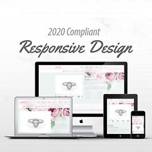 2018 Compliant Mobile Responsive Ebay Auction Listing Template Flowers Jewelery