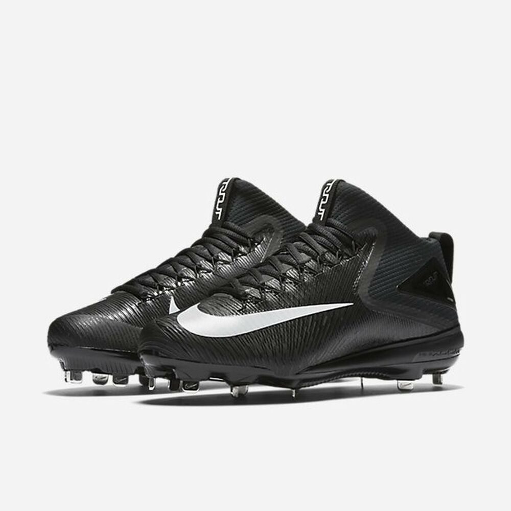 sale retailer 09649 749a2 Details about New Nike Zoom Trout 3 Metal Baseball Cleats Size 12 Black  White Mike Trout