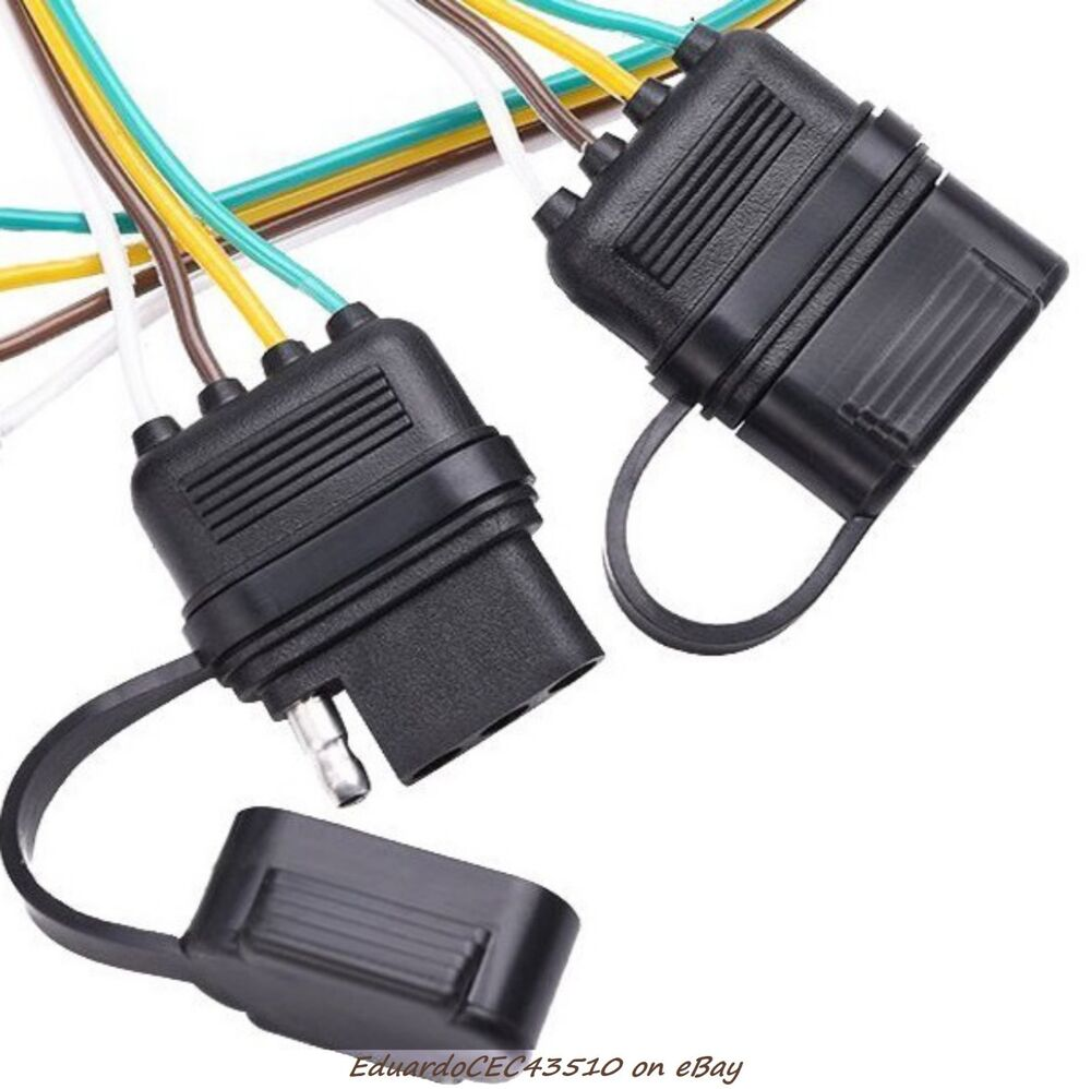 Trailer Wiring Harness Plug Covers : Trailer pin flat wire connector cover weatherproof cap