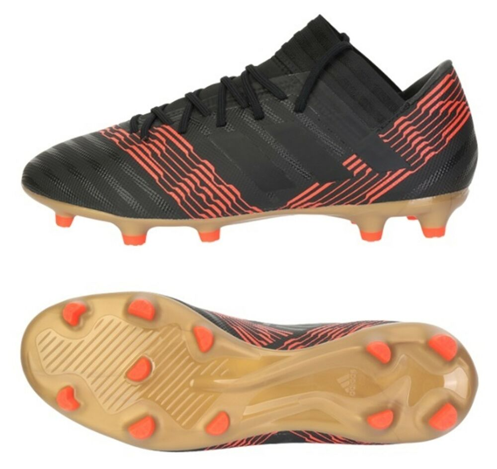 ad26d93d7f4c Details about Adidas Men NEMEZIZ 17.3 FG Cleats Black Soccer Football GYM  Shoes Spike CP8985