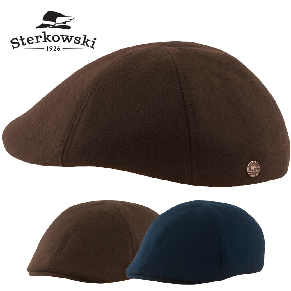 df88ff8ce3d4e Details about Sterkowski  RUSTY  Warm Winter 6 Panel Duckbill Flat Cap    Newsboy Cabbie Ivy