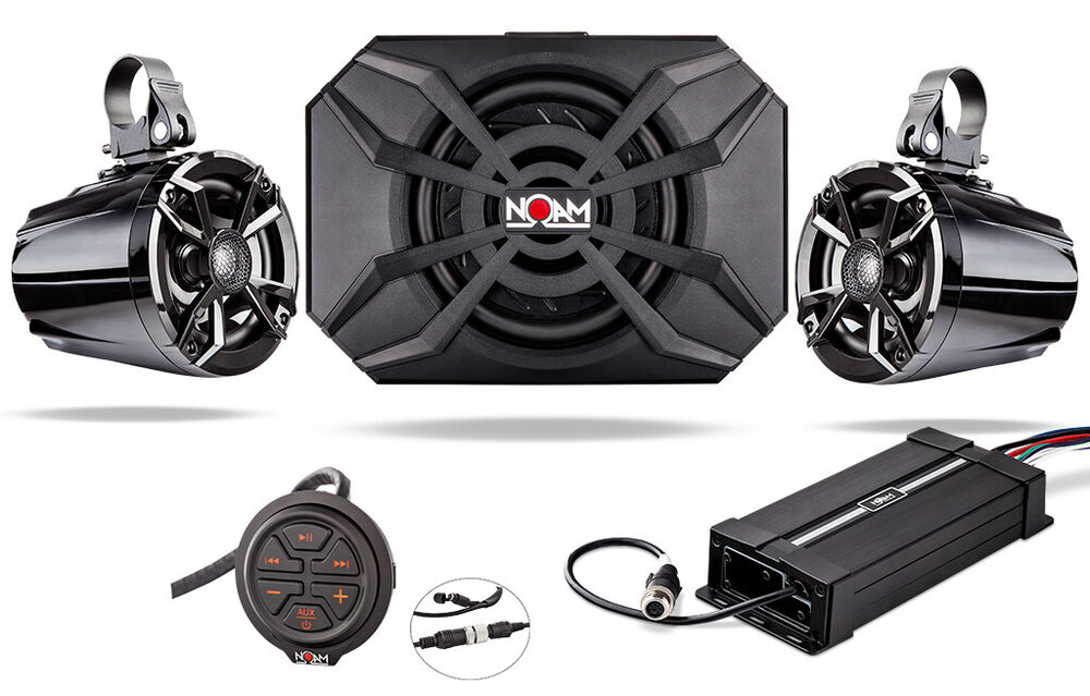 waterproof marine atv rzr utv speakers audio bluetooth stereo system subwoofer 639072291902 ebay. Black Bedroom Furniture Sets. Home Design Ideas