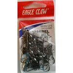 Eagle Claw Barrel Swivel with Interlocking Snap Size 5 - 9 Packs of Qty.12