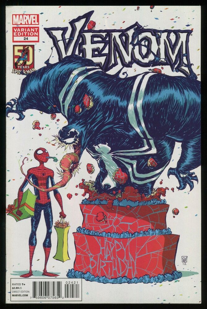 Venom 24 Spider Man 50th Anniversary Skottie Young Variant