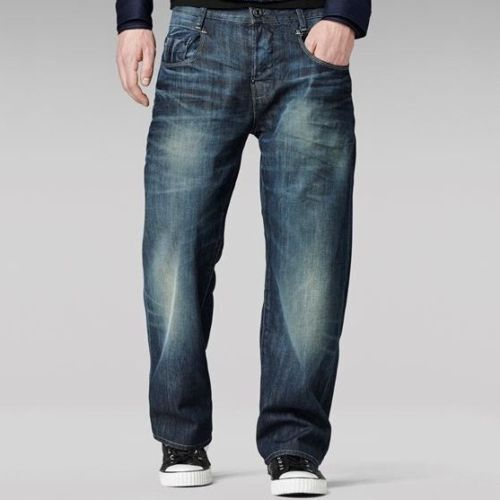 1e887eb9ef3 Details about G-Star RAW New Radar Loose Trousers Low Fit Dark Aged Denim  Workwear Style Jeans