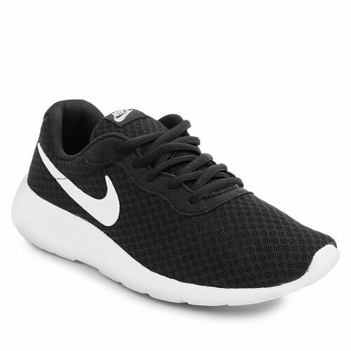 da81d95df7153 Details about Nike Tanjun 818381-011 Black White Women Junior Shoes