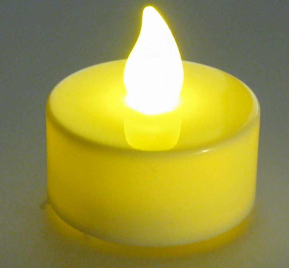 Flickering Yellow Led Candle With Cr2032 3v Battery And Switch Circuits Included Ebay