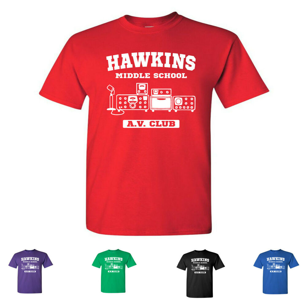 b5d494d5 Details about Hawkins Middle School A.V. Club Kids Tees Stranger Things  Youth T-Shirts
