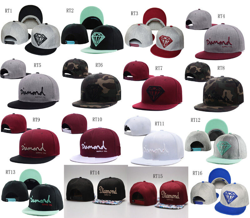 Hip Hop Men s Diamond supply co Snapback adjustable Baseball Cap bboy SUN  Hat EW  a01f92bd5d7