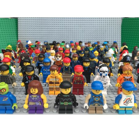 img-Lego Minifigures x 10 With Hat Hair Or Accessory Figures Mini Figures Job Lot
