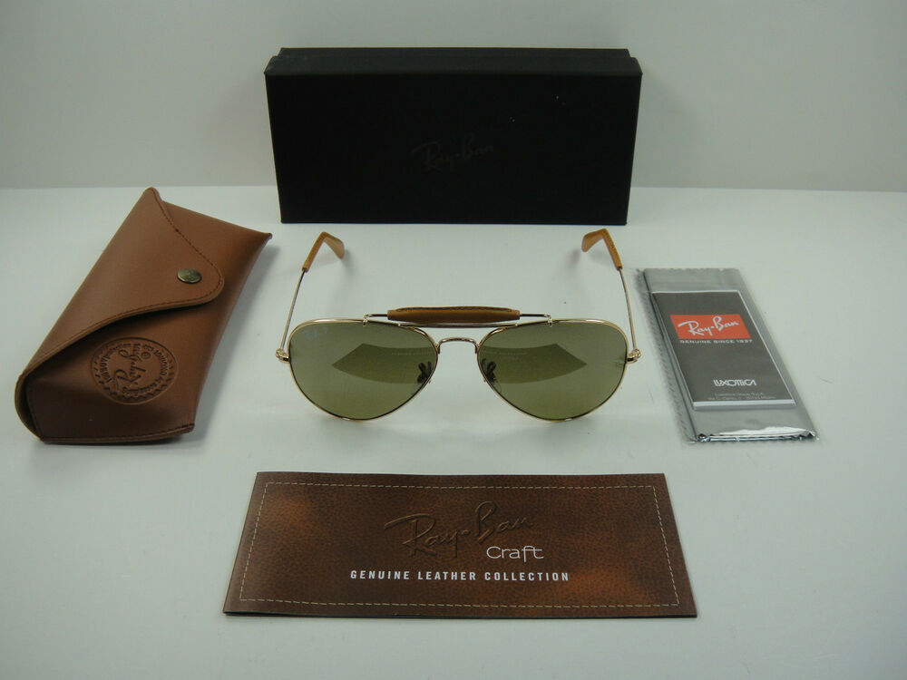1eaee6c864 Details about RAY-BAN OUTDOORSMAN POLARIZED SUNGLASSES RB3422Q 001 M9 GOLD GREEN  LENS 58MM