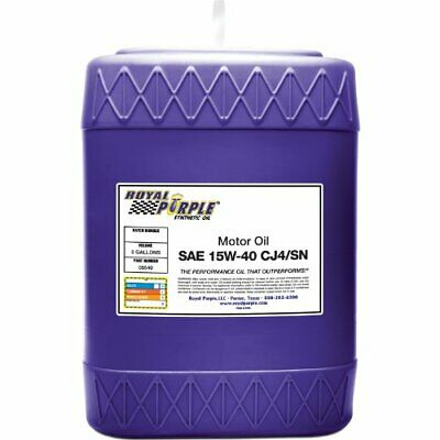 Royal Purple 05540 API-Licensed SAE 5W-40 High Performance Synthetic Motor Oil -