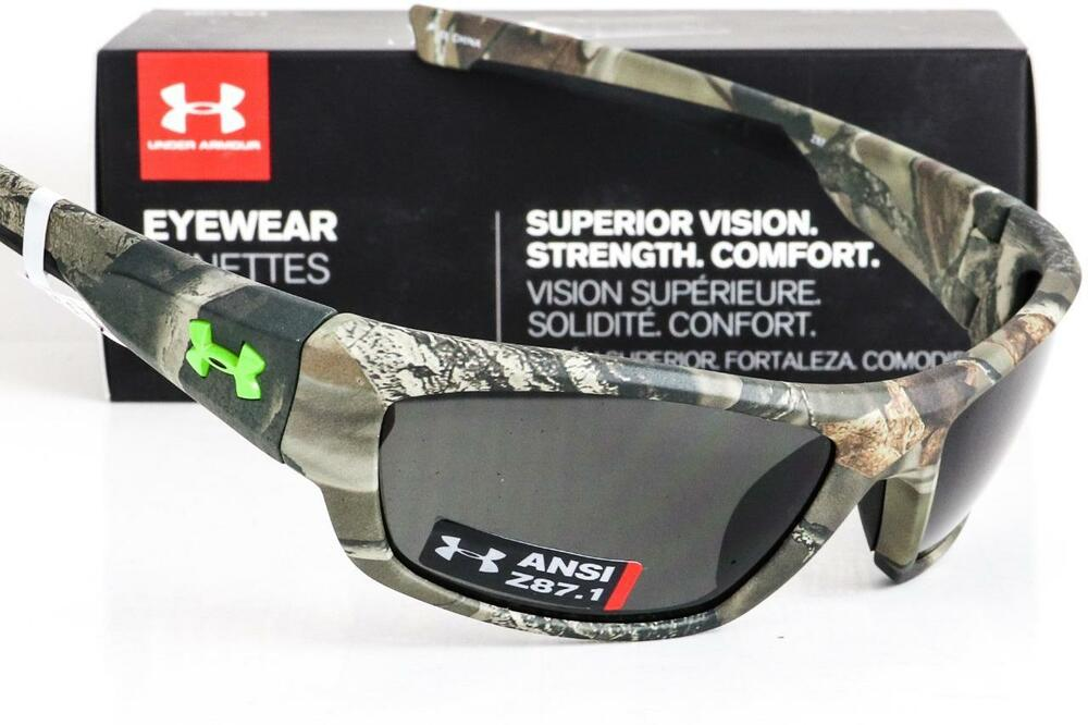 f2144dd5dce Details about NEW UNDER ARMOUR FORCE SUNGLASSES Satin Realtree Camo frame Grey  lens ANSI Z87.1