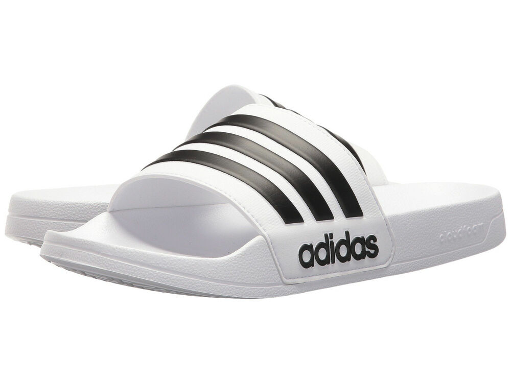 d43a1a730f7f6a Details about Men Adidas NEO CF Adilette Slide Sandal AQ1702 White Black  White Brand New