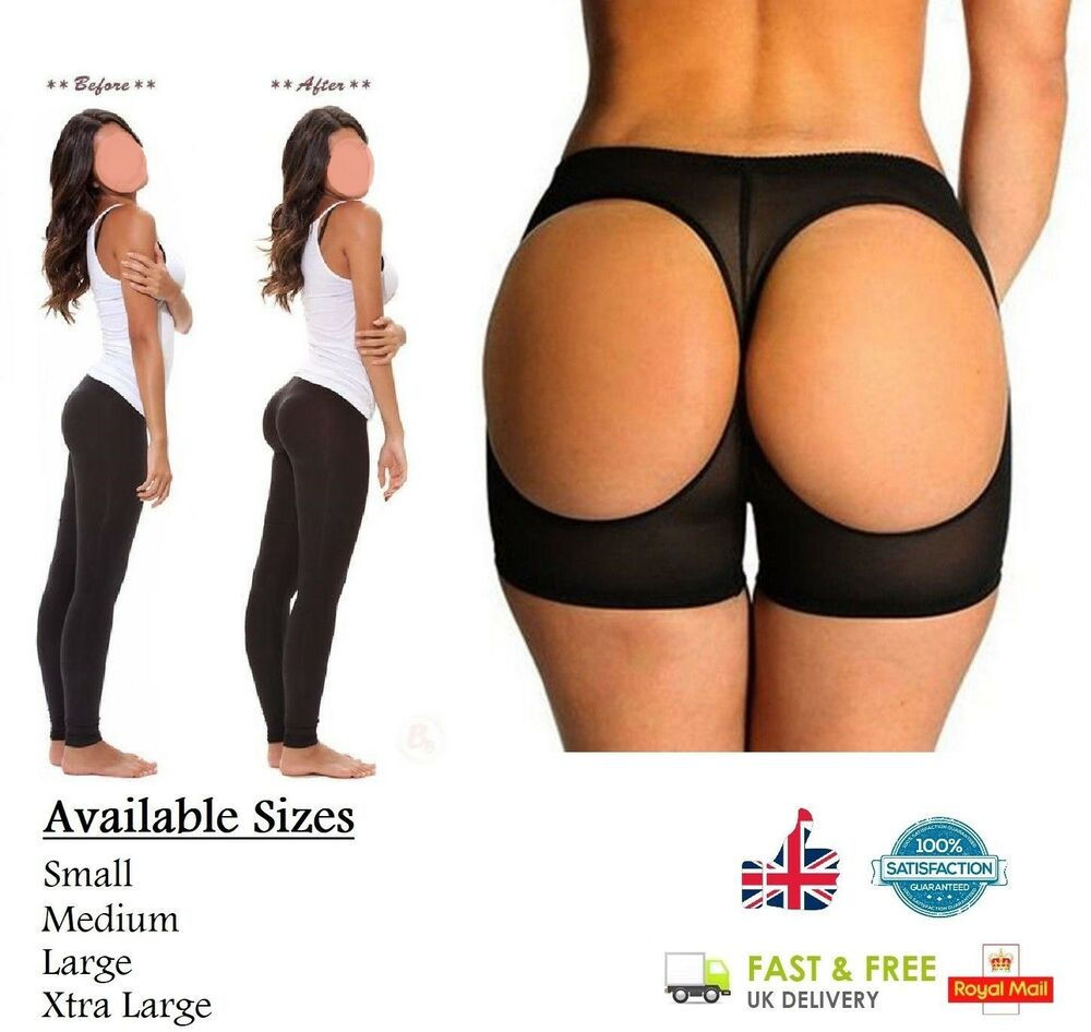 Butt Lifter Underwear Big Bum Booty Enhancer Bum Shaper Knickers Pantie Black Ebay