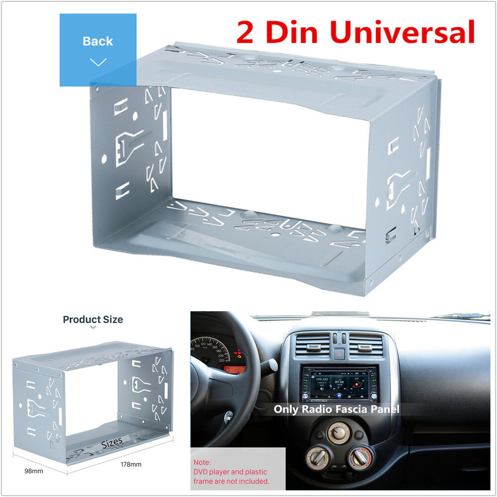 2din Metal Fascia Mounting Cage Dash Kit For Car Radio Dvd