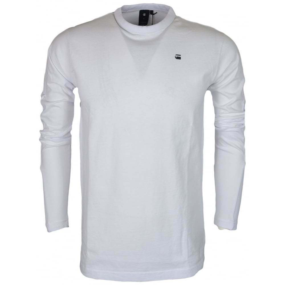 a4f62dac339d Details about G-Star Motac Dry Jersey Relaxed Fit White Long Sleeve T-Shirt