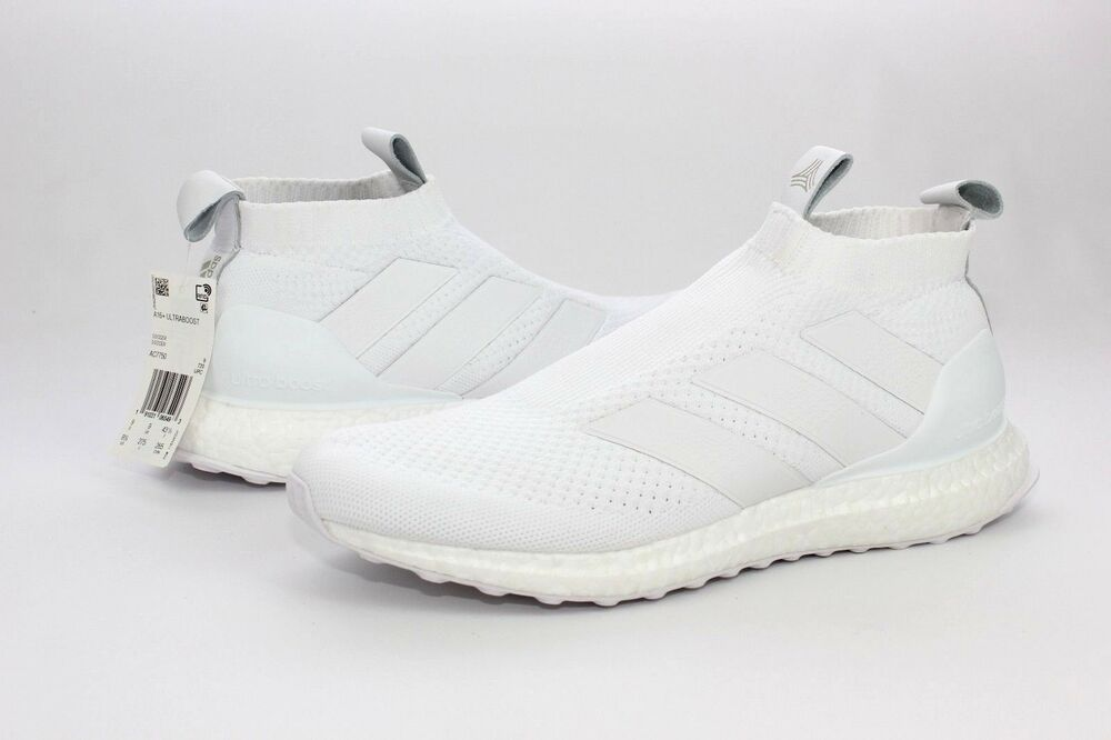 watch 2e118 5d460 Details about Adidas A16 + UltraBOOST White Soccer Running Shoes Mens Size  9.5 NIB AC7750