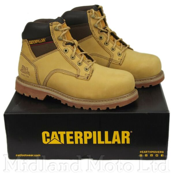 Caterpillar Safety Work Boots Tracker SB Steel Toe Cap  Honey Nubuck CAT 7002