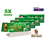 5 Packs - Zig Zag Green Rolling Papers -