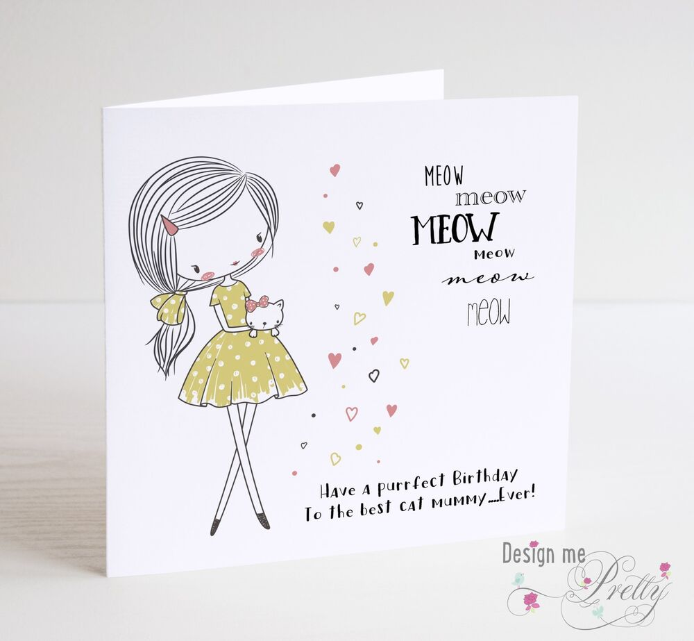 Details About MEOW Birthday Card From Your Cat