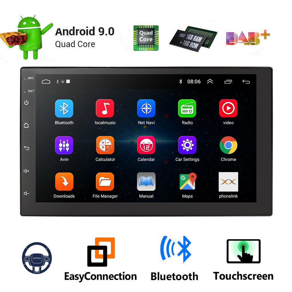 Single 1din 7 Android 71 Car Stereo Radio Gps Navi Player 4g Wifi Plcm18bc Wiring Diagram Obd2 Dab Us Ebay
