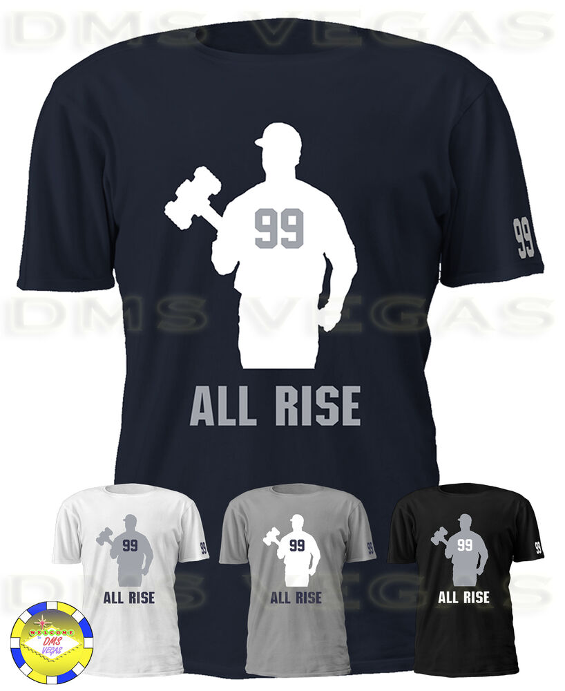 cf2944693 Details about New York Yankees Aaron Judge All Rise Jersey Tee T Shirt  Shadow Men S-5XL