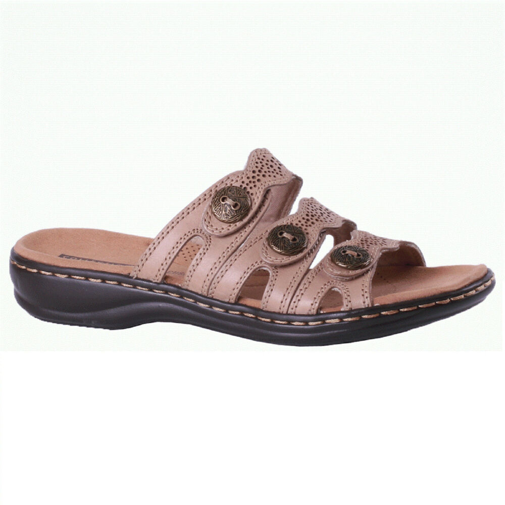 457a265e4 Details about Women s Clarks LEISA GRACE 26134111 Sand Slip-on Slide Sandal  Shoes