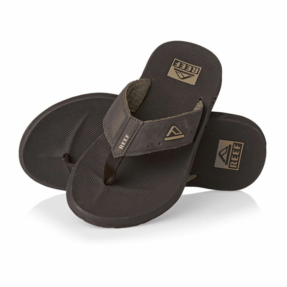 488d2fb14d40 Details about Reef Men s Phantoms Flip Flop Sandals Thongs Brown RF002046