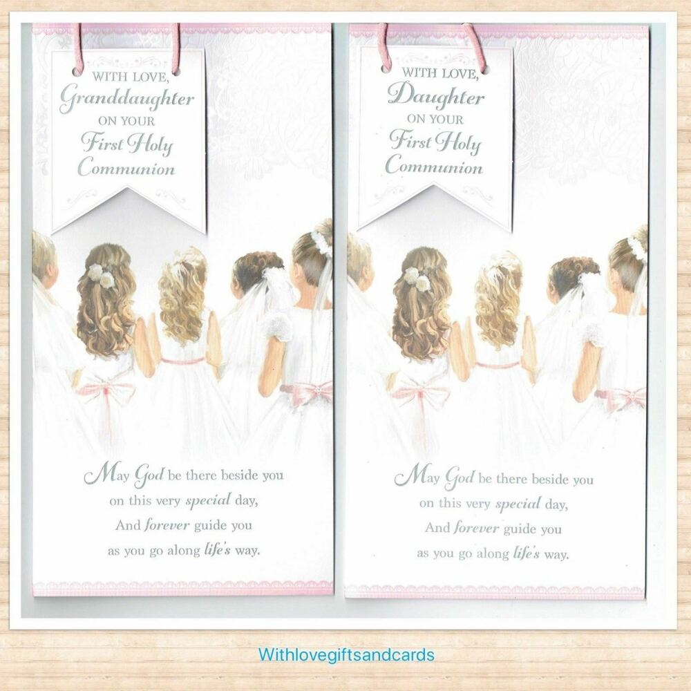 Daughter Granddaughter Niece Sister First Holy Communion Card